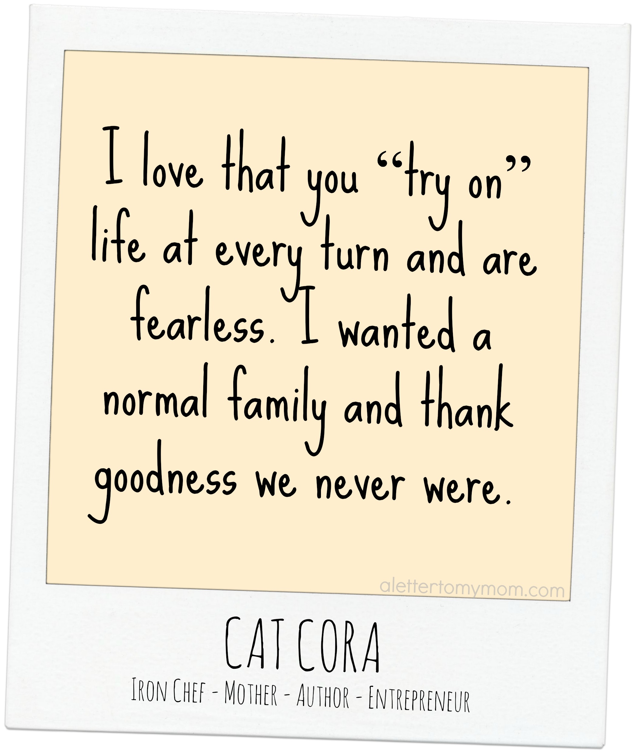 cat cora iron chef a letter to my mom motherhood quotes quotes